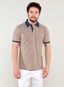Poloshirt aus Bio Baumwolle mit Allover-Print - ORGANICATION