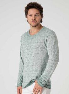 Langarmshirt aus Bio Baumwolle in Garment-Dye Optik - ORGANICATION