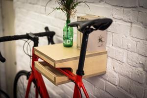 Fahrrad Wandhalterung 'FRIEDRICH' aus nachhaltigem Holz - Bicycledudes