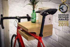 Fahrrad Wandhalterung 'JOHANNES' aus nachhaltigem Holz - Bicycledudes