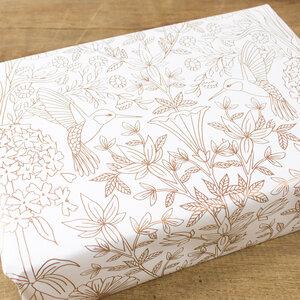 Geschenkpapier Flower Garden - Bow & Hummingbird