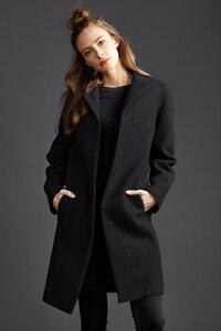 Damen Mantel Classical Coat II - Black - LangerChen