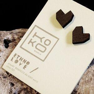 Ohrringe Ethno Love Hearts Black - KOKOworld