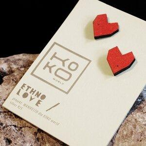 Ohrringe Ethno Love Hearts Red - KOKOworld