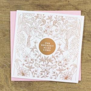 Grußkarte Zur Hochzeit - Bow & Hummingbird