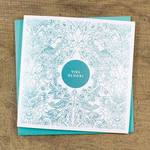 Grußkarte Viel Glück - Bow & Hummingbird