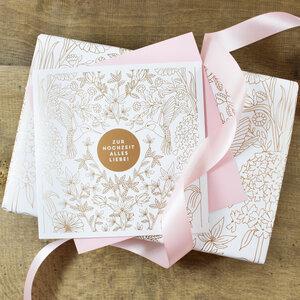 Geschenkverpackungs-Set zur Hochzeit - Bow & Hummingbird