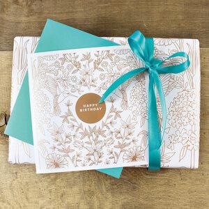 Geschenkverpackungs-Set zum Geburtstag - Bow & Hummingbird