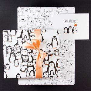"Geschenkverpackungs-Set ""Frostige Freunde"" - Bow & Hummingbird"