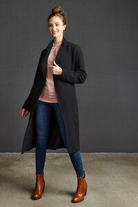 Damen Mantel Coat Tallulah X-Black - LangerChen